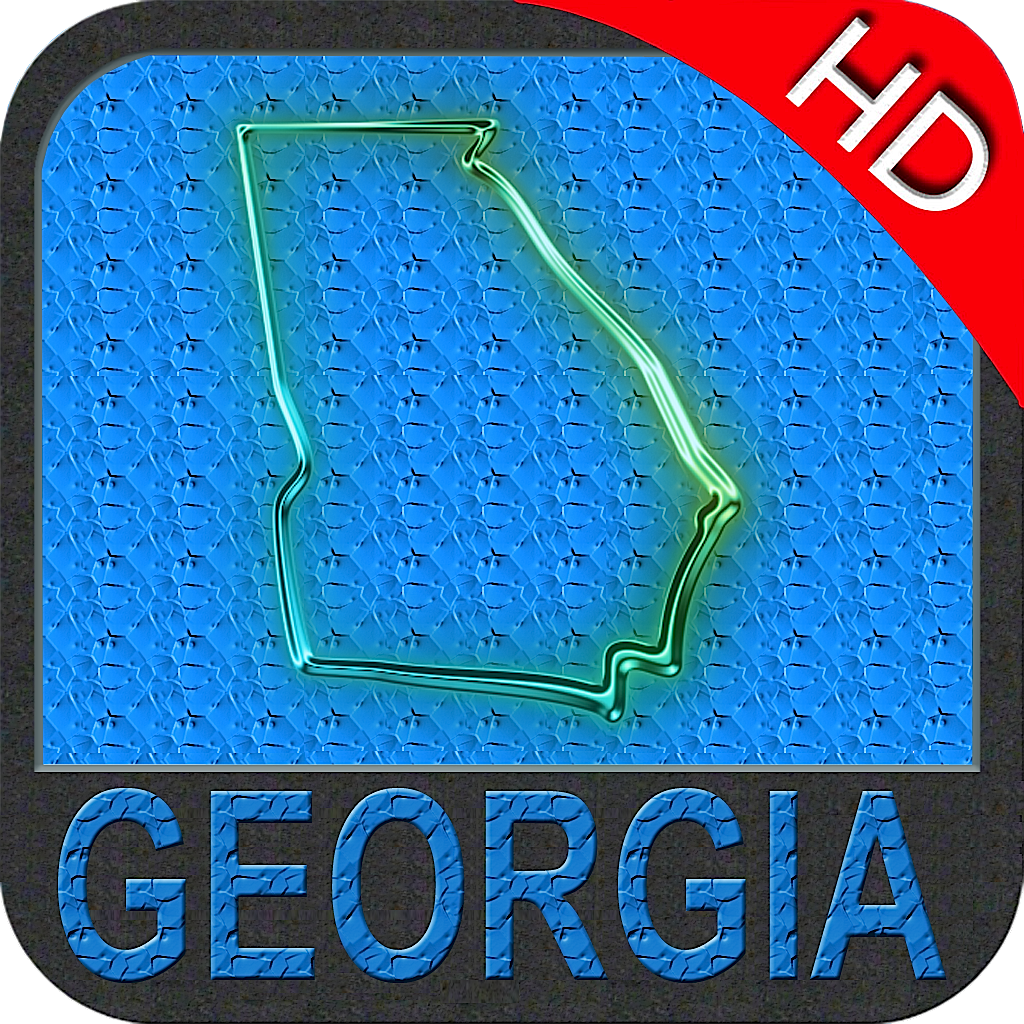 Georgia nautical chart HD: marine & lake gps waypoint, route and track for boating cruising fishing yachting sailing diving